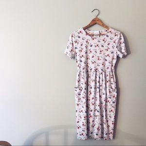 [Vintage] Bobbie Brooks Floral T-Shirt Dress